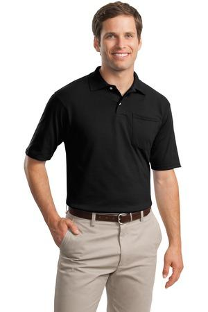 JERZEES® -SpotShield™ 5.6-Ounce Jersey Knit Sport Shirt with Pocket. 436MP