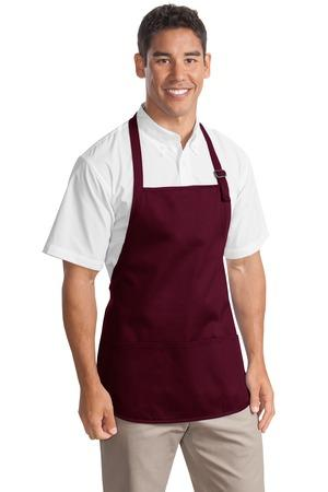 Port Authority® Medium Length Apron with Pouch Pockets.  A510