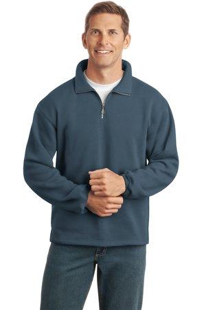CLOSEOUT  Port Authority® Sueded Finish 1/4-Zip Sweatshirt.  F292