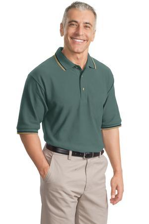 DISCONTINUED Port Authority® Cool Mesh™ Polo with Tipping Stripe Trim. K431