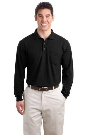 Port Authority® Long Sleeve Silk Touch™ Polo with Pocket.  K500LSP