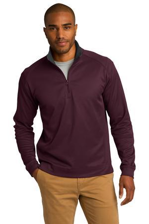 Port Authority® Vertical Texture 1/4-Zip Pullover. K805