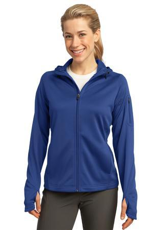 Sport-Tek® Ladies Tech Fleece Full-Zip Hooded Jacket. L248
