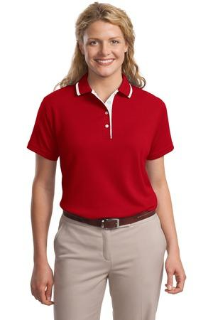 CLOSEOUT Port Authority® Ladies Pinpoint™ Knit Polo. L447