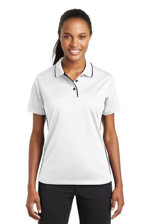 Sport-Tek® Ladies Dri-Mesh® Polo with Tipped Collar and Piping.  L467
