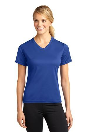 Sport-Tek® Dri-Mesh® Ladies V-Neck T-Shirt.  L468V