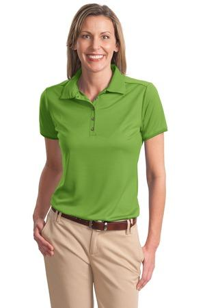 DISCONTINUED Port Authority® Ladies Poly-Bamboo Charcoal Birdseye Jacquard Polo. L498