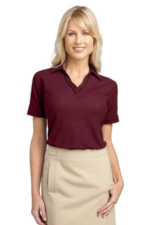 DISCONTINUED Port Authority® Ladies Silk Touch™ Piped Polo. L502