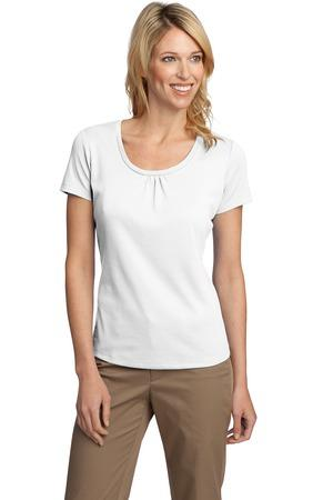 CLOSEOUT Port Authority® Ladies Silk Touch™ Interlock Scoop Neck Shirt. L522