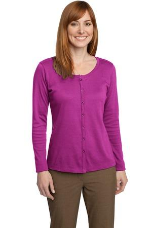 Port Authority® Ladies Silk Touch™ Interlock Cardigan. L530