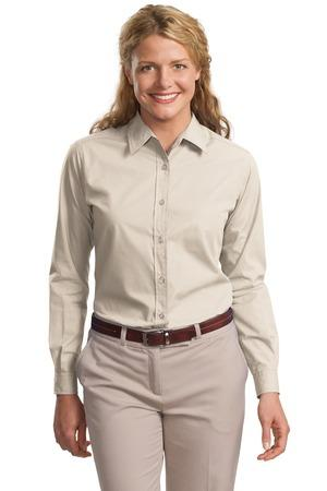 Port Authority® Ladies Long Sleeve Easy Care  Soil Resistant Shirt.  L607