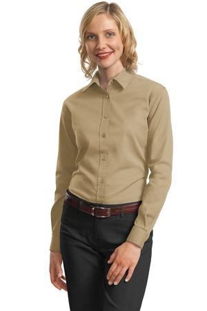 CLOSEOUT Port Authority® Ladies Long Sleeve Value Cotton Twill Shirt. L634