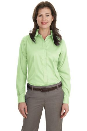 Port Authority® Ladies Long Sleeve Non-Iron Twill Shirt.  L638