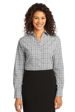 CLOSEOUT Port Authority® Ladies Crosshatch Plaid Easy Care Shirt. L641