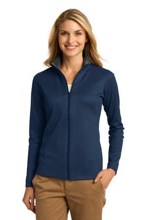 Port Authority® Ladies Vertical Texture Full-Zip Jacket. L805