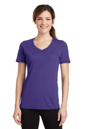 Port & Company® Ladies Essential Blended Performance V-Neck Tee. LPC381V