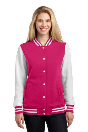 Sport-Tek® Ladies Fleece Letterman Jacket. LST270