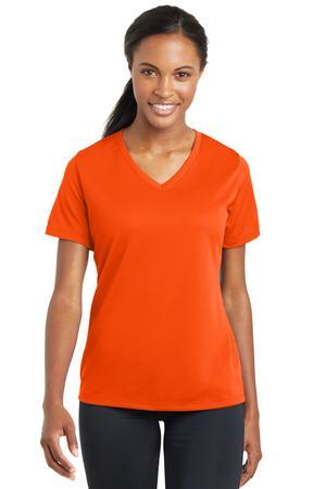 Sport-Tek® Ladies PosiCharge® RacerMesh™ V-Neck Tee. LST340