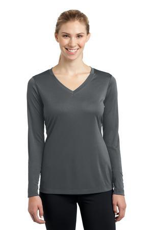 Sport-Tek® Ladies Long Sleeve PosiCharge® Competitor™ V-Neck Tee. LST353LS