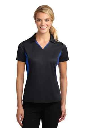 Sport-Tek® Ladies Side Blocked Micropique Sport-Wick® Polo. LST655