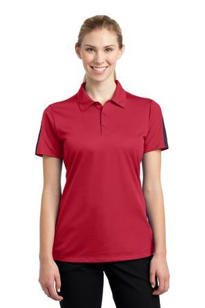 Sport-Tek® Ladies PosiCharge® Active Textured Colorblock Polo. LST695