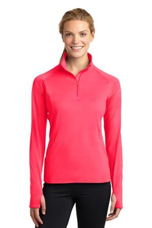 Sport-Tek® Ladies Sport-Wick® Stretch 1/2-Zip Pullover. LST850