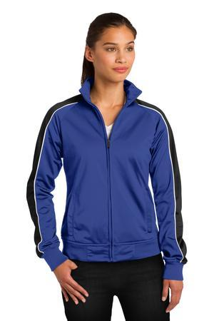 Sport-Tek® Ladies Piped Tricot Track Jacket. LST92