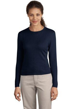 CLOSEOUT Port Authority® Ladies Fine-Gauge Long Sleeve Crewneck Sweater.  LSW283