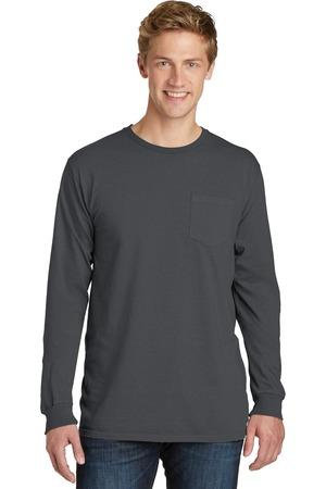 Port & Company® Essential Pigment-Dyed Long Sleeve Pocket Tee.  PC099LSP