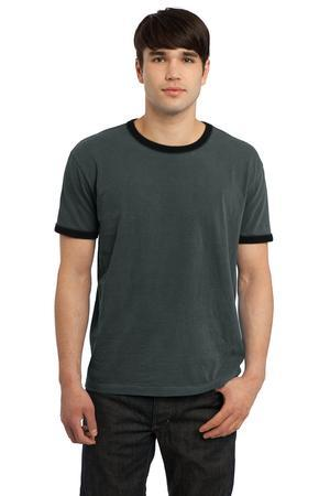 CLOSEOUT Port & Company® - Essential Pigment-Dyed Ringer Tee. PC100