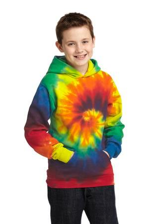 Port & Company® Youth Essential Tie-Dye Pullover Hooded Sweatshirt. PC146Y