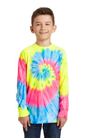 Port & Company® Youth Essential Tie-Dye Long Sleeve Tee.  PC147YLS