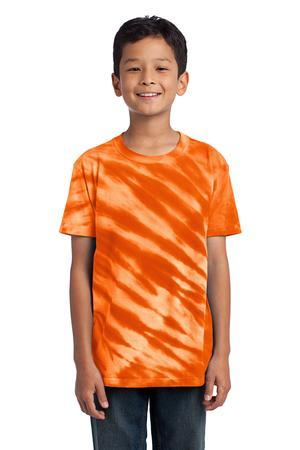 Port & Company® - Youth Essential Tiger Stripe Tie-Dye Tee. PC148Y