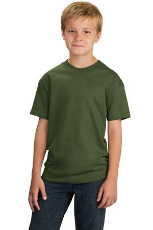 CLOSEOUT Port & Company® - Youth Organic Cotton T-Shirt. PC50YORG