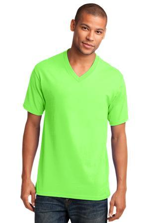 Port & Company® 5.4-oz 100% Cotton V-Neck T-Shirt. PC54V