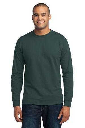 Port & Company® - Long Sleeve 50/50 Cotton/Poly T-Shirt. PC55LS