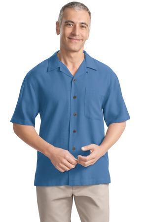 CLOSEOUT Port Authority® Silk Blend Camp Shirt.  S533