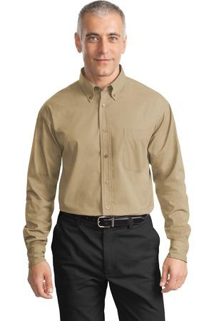 CLOSEOUT Port Authority® Long Sleeve Value Cotton Twill Shirt. S634