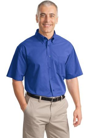 CLOSEOUT Port Authority® Short Sleeve Value Cotton Twill Shirt. S635