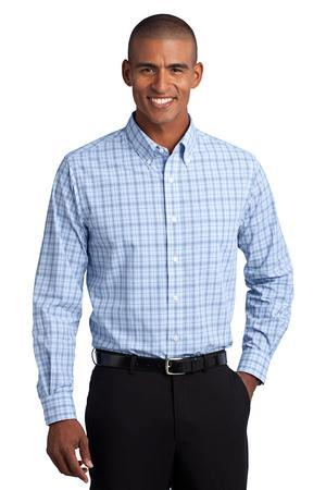 CLOSEOUT Port Authority® Crosshatch Plaid Easy Care Shirt. S641
