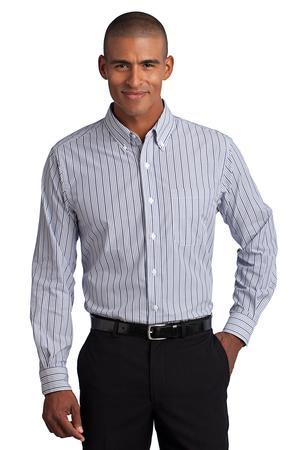 CLOSEOUT Port Authority® Vertical Stripe Easy Care Shirt. S643