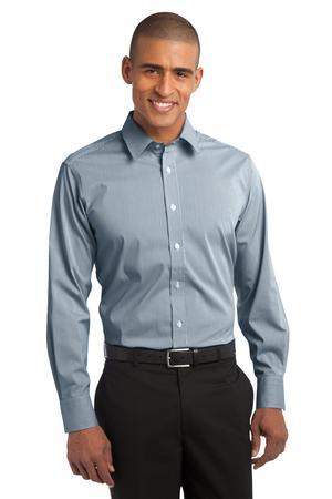 Port Authority® Fine Stripe Stretch Poplin Shirt. S647