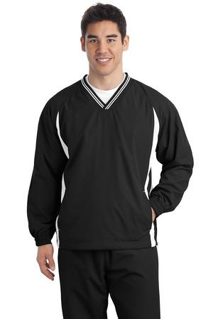 Sport-Tek® Tall Tipped V-Neck Raglan Wind Shirt. TJST62