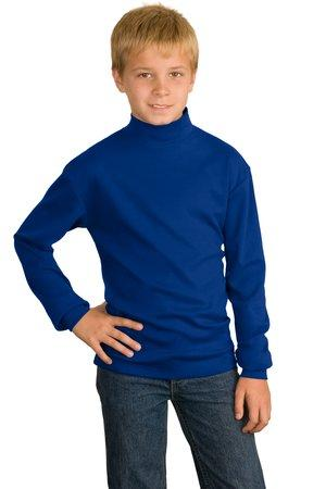 CLOSEOUT Port Authority® Youth Interlock Knit Mock Turtleneck.  Y321