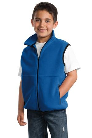CLOSEOUT Port Authority® Youth R-Tek® Fleece Vest.  YJP79