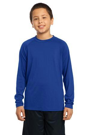 Sport-Tek® Youth Long Sleeve Ultimate Performance Crew. YST700LS