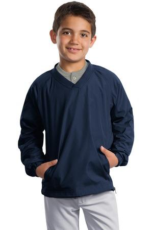 Sport-Tek® Youth V-Neck Raglan Wind Shirt. YST72