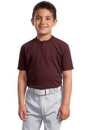 Sport-Tek® Youth Short Sleeve Henley. YT210