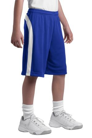 DISCONTINUED Sport-Tek® Youth Dry Zone® Colorblock Short. YT479